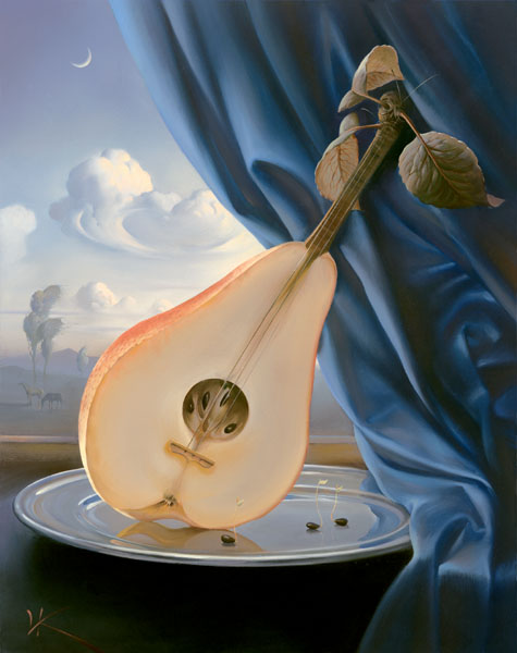 STILL LIFE WITH MANDOLIN 13 x 10 Edition: 325 by Vladimir Kush