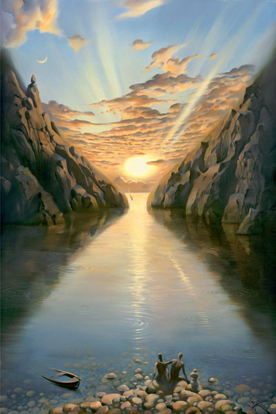 TIDE OF TIME 20 x 14 Edition: 500 by Vladimir Kush