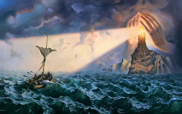 TO THE SAFE HAVEN 19 x 31 Edition: 325 by Vladimir Kush