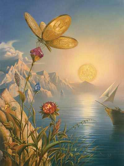 TREASURE ISLAND 28 x 24 Edition: 325 by Vladimir Kush