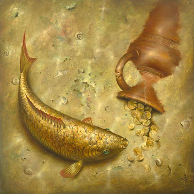 What the Fish Was Silent About 19 x 19 Edition: 325 by Vladimir Kush