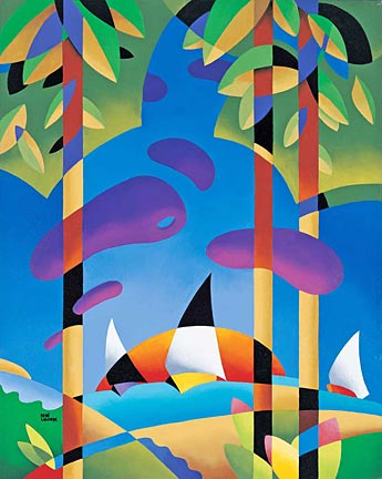 Rene Lalonde - Sailing At Sunset