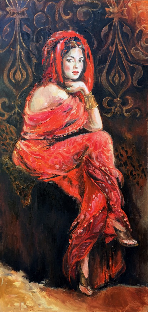 Liana Gor - JUDITH 24 X 48 - Oil on Canvas