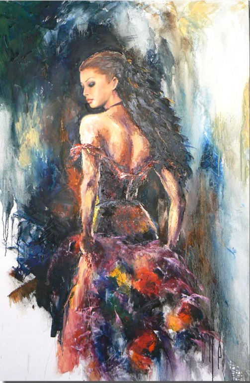 Liana Gor - Dance Passion 48x30 - Oil on Canvas