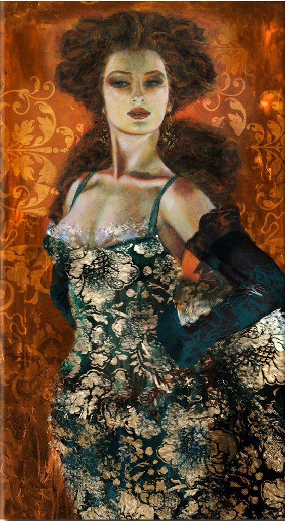 Liana Gor - Madame 36x24 - Oil on Canvas