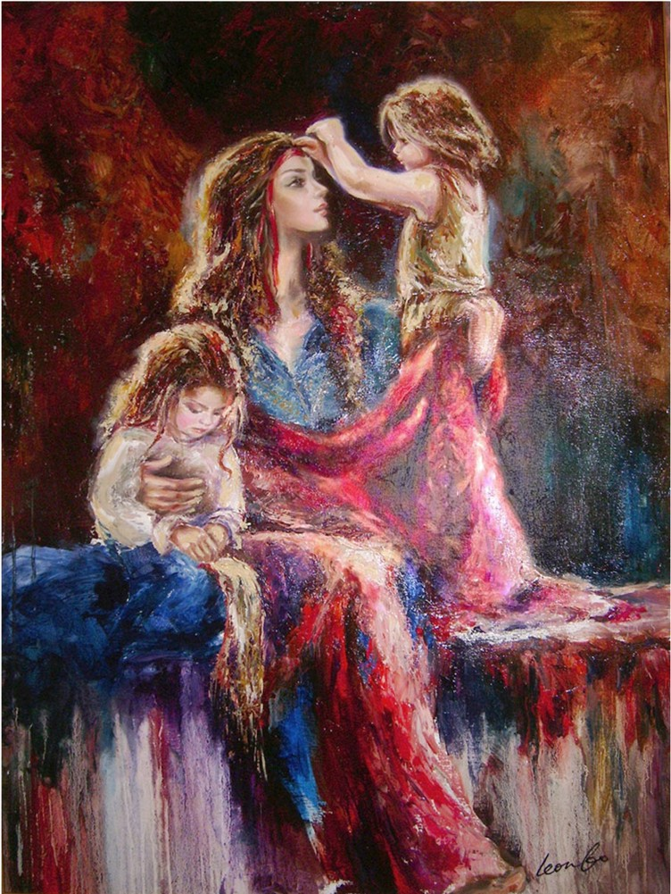 Liana Gor - Mother Song 48x36 - Oil on Canvas