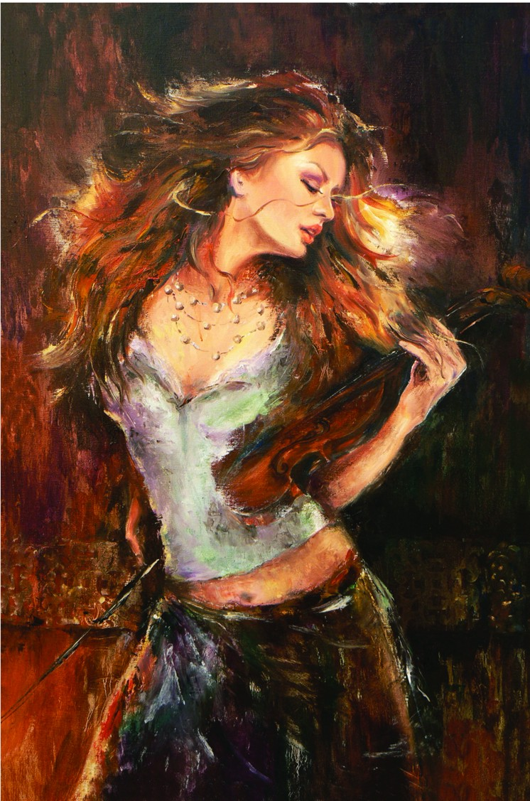 Liana Gor - Music Touch 36x24 - Oil on Canvas