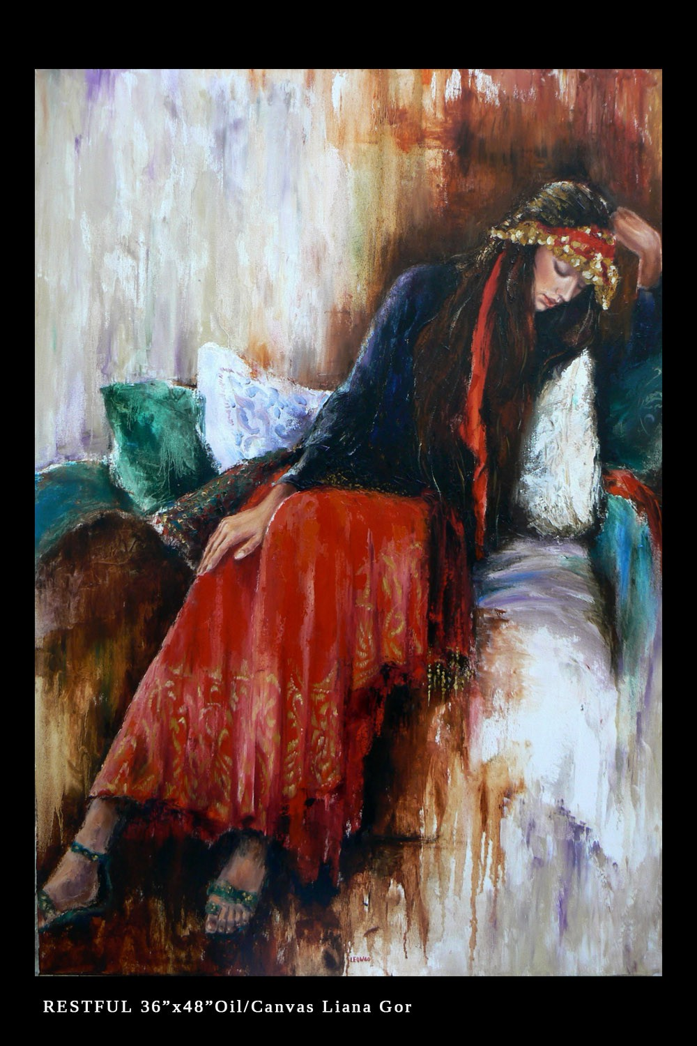 Liana Gor - Restful - Oil on Canvas