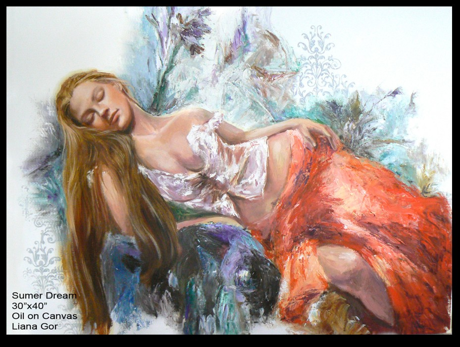 Liana Gor - Summer Dream - Oil on Canvas