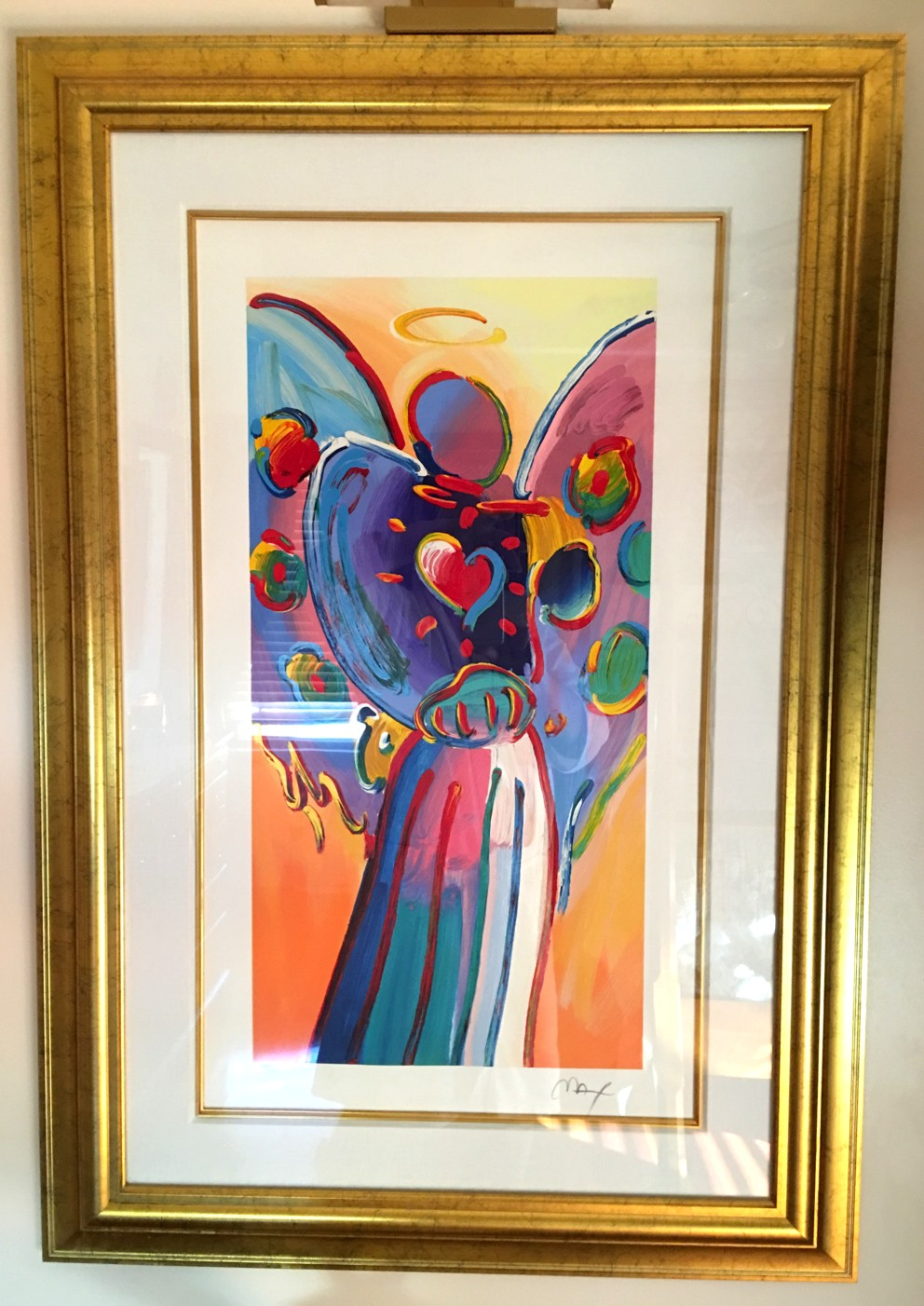 ANGEL WITH HEART 2010 - Fine Art by Peter Max