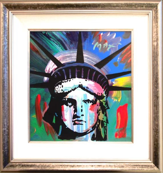 Liberty Head original painting on canvas - Fine Art by Peter Max