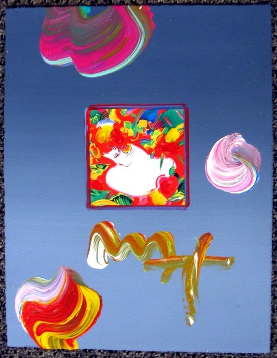 FLOWER BLOSSOM LADY - Fine Art by Peter Max