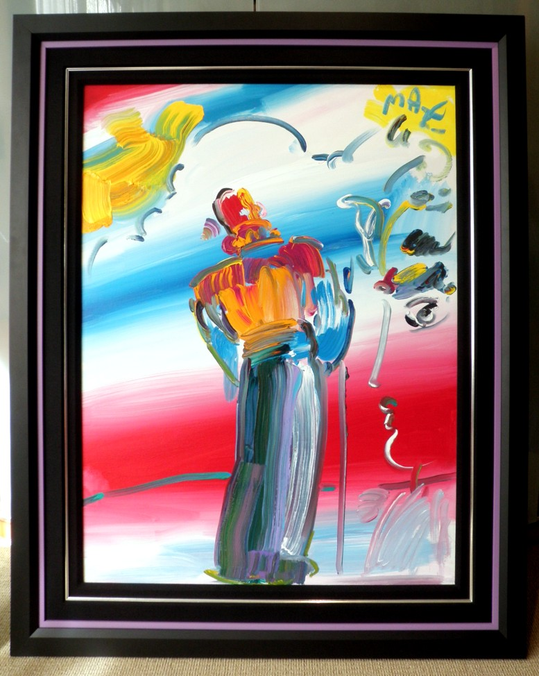 MONK WITH PROFILE - Fine Art by Peter Max
