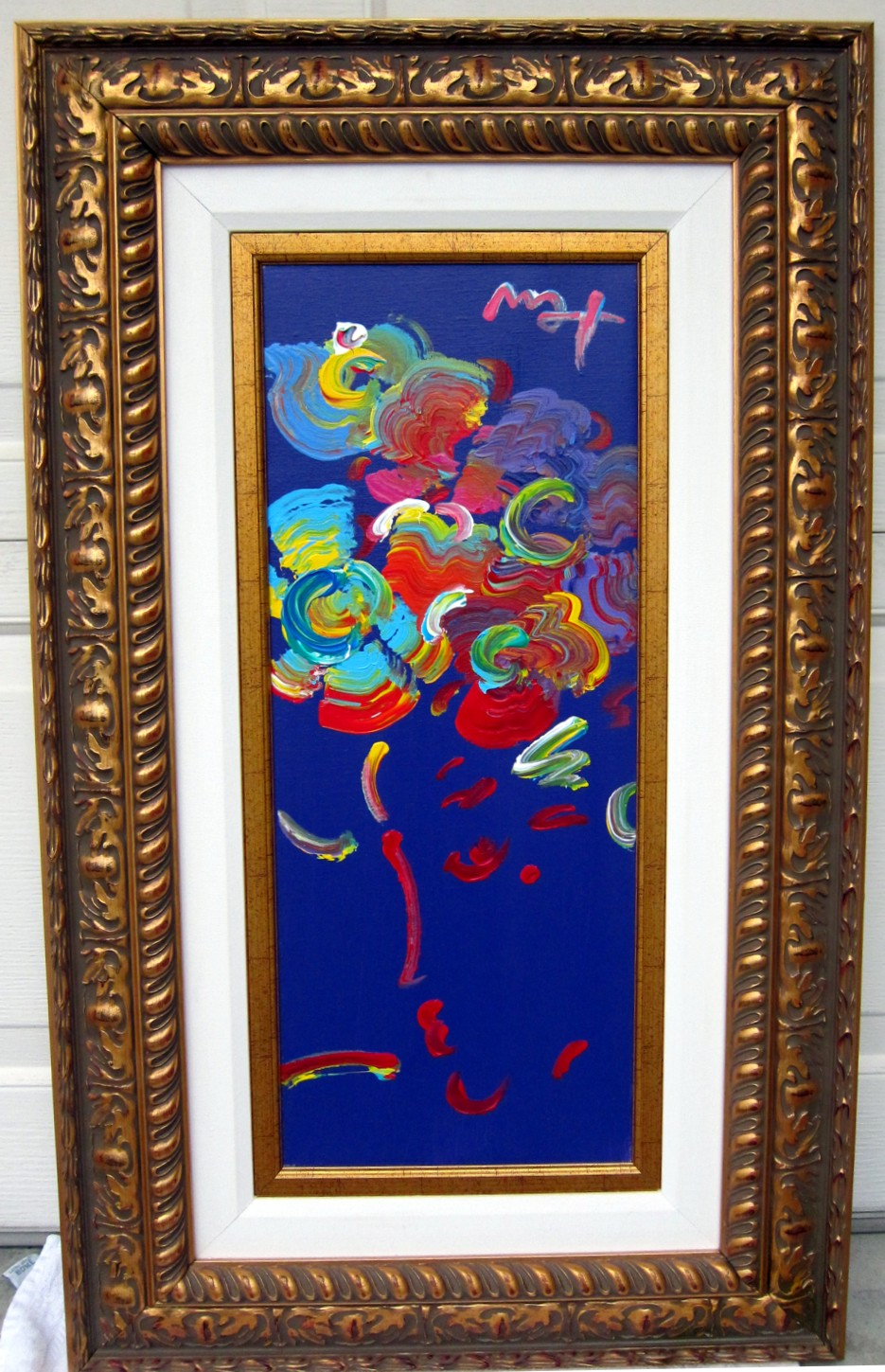 ROSEVILLE PROFILE - original painting on canvas - Fine Art by Peter Max