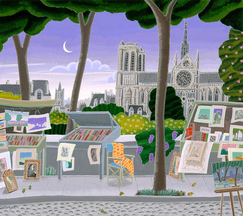 Thomas McKnight - Paris - Notre Dame - original painting on Canvas