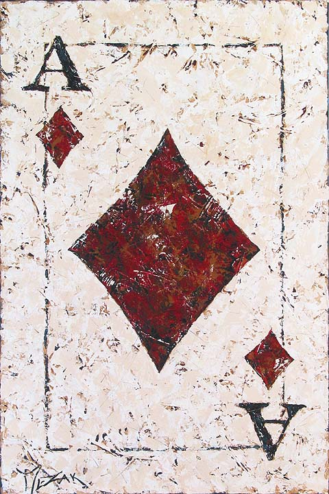 Jack of Diamonds - original painting by