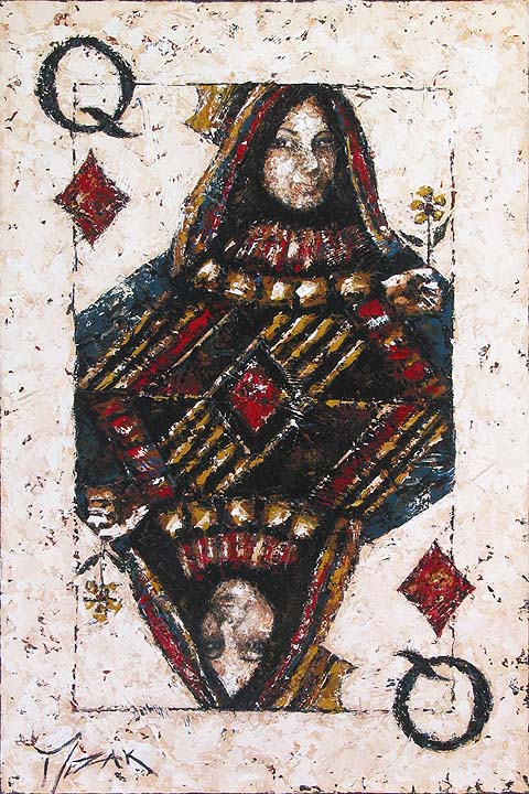Queen of Diamonds - original painting by