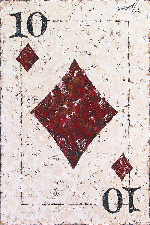 Ten of Diamonds - original painting by