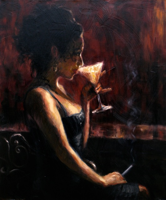 Night Life - Oil on Canvas by Michael - Vincent