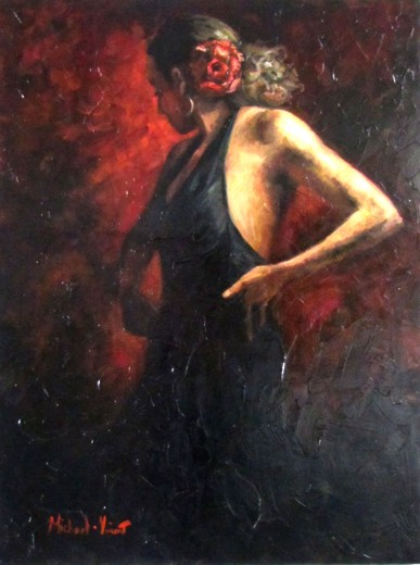 Passion and Dance - Oil on Canvas by Michael - Vincent