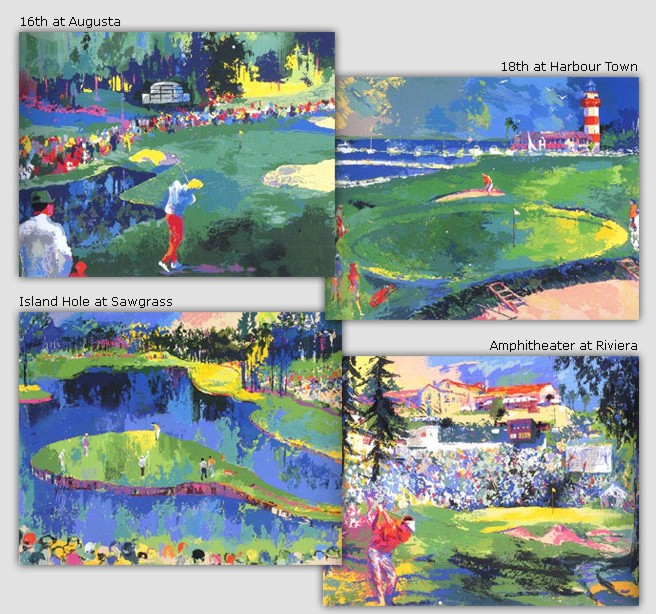 Leroy Neiman - Bog Time Golf Suite - Limited Edition Serigraph