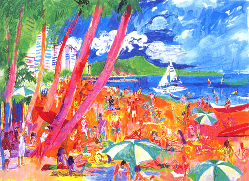 Leroy Neiman - diamond head hawaii - serigraph