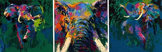 Leroy Neiman - Portrait of an Elephant