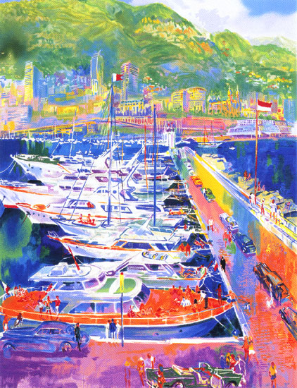 Leroy Neiman - Harbor at Monaco - serigraph