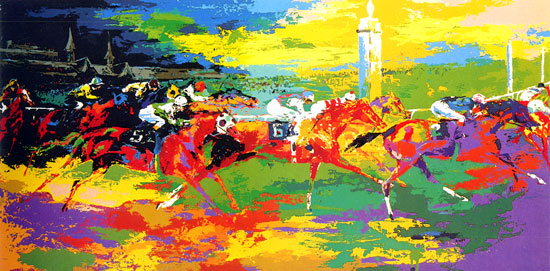 Leroy Neiman - KENTUCKY DERBY