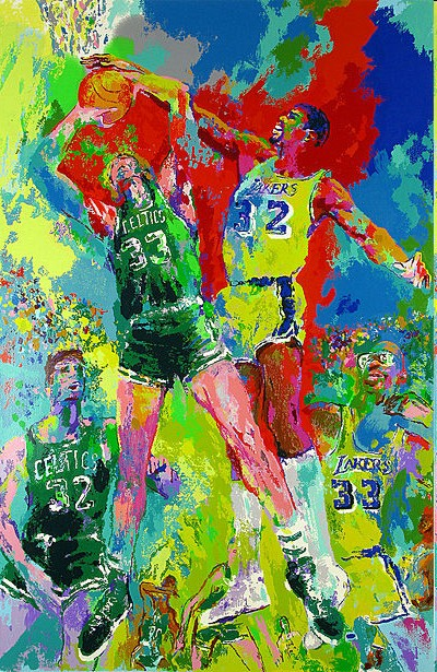Leroy Neiman - Magic (Johnson) - serigraph