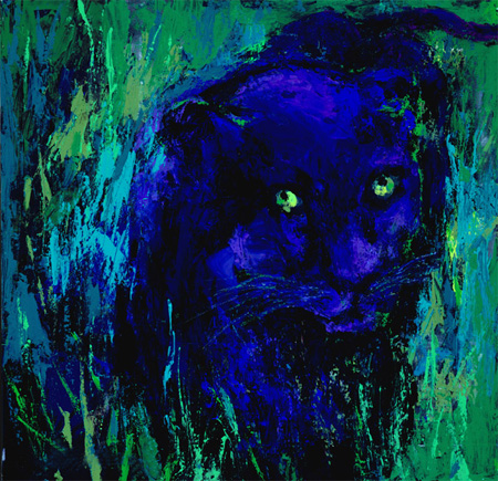 Leroy Neiman - Portrait of a Black Panther
