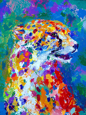 Leroy Neiman - Portrait of a Cheetah