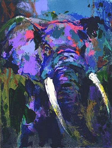 PORTRAIT OF THE ELEPHANT - Fine Art by Leroy Neiman