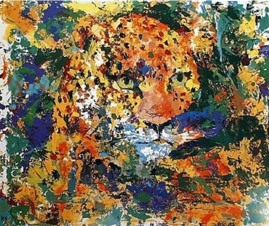Leroy Neiman - Portrait of the Leopard - signed and numbered limited edition serigraph