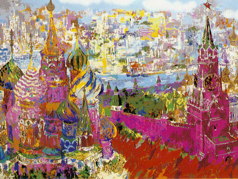 Leroy Neiman - Red Square Panorama