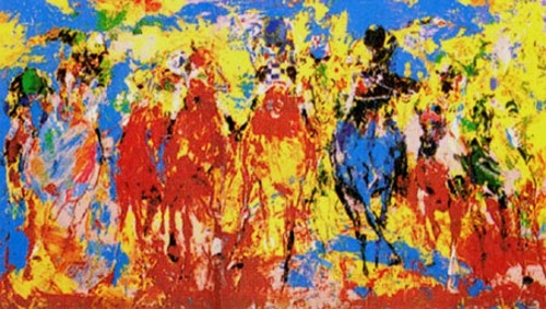 Stretch Stampede - Fine Art by Leroy Neiman