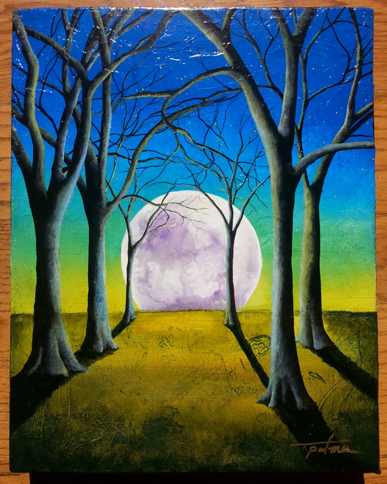 Tina Palmer - New Moon - original painting
