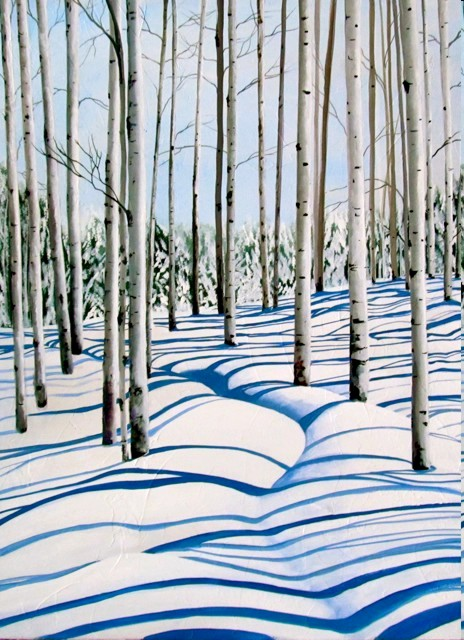 Tina Palmer - RIBBONS OF SNOW original painting