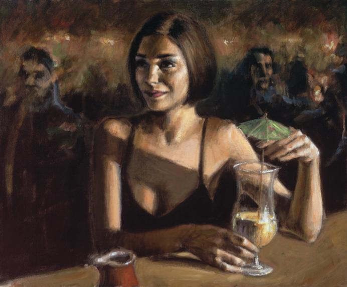 Fabian Perez - Cocktail in Maui