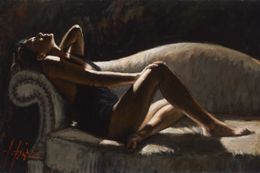 Fabian Perez - Paola on Couch