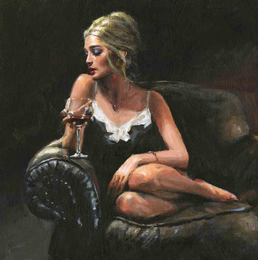 Fabian Perez - Sally on the Couch