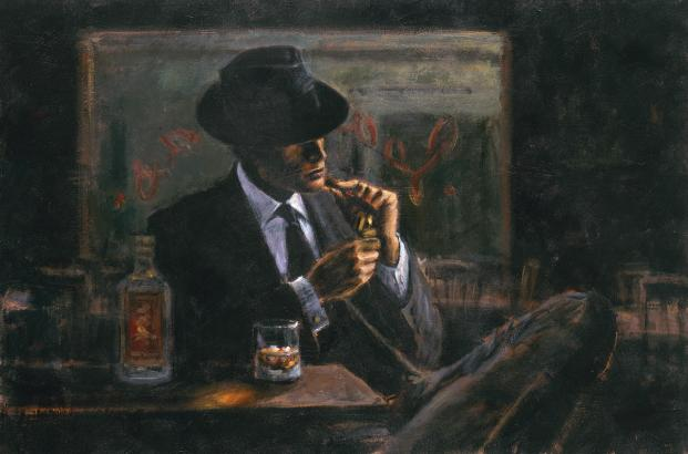 Fabian Perez - WHISKEY AT LAS BRUJAS