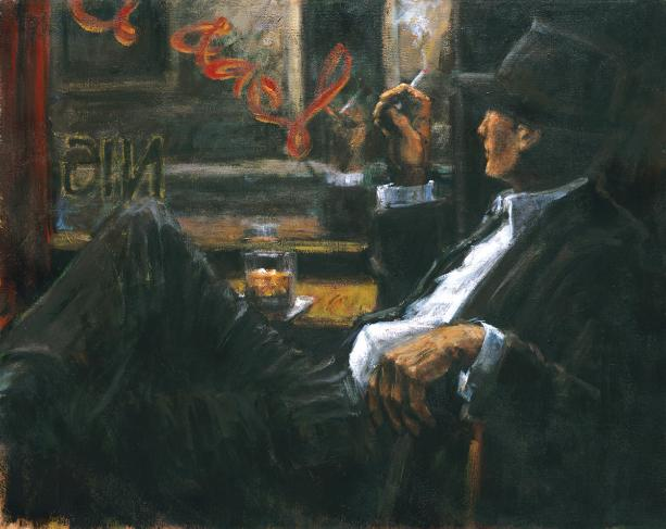 Fabian Perez - WHISKEY AT LAS BRUJAS II