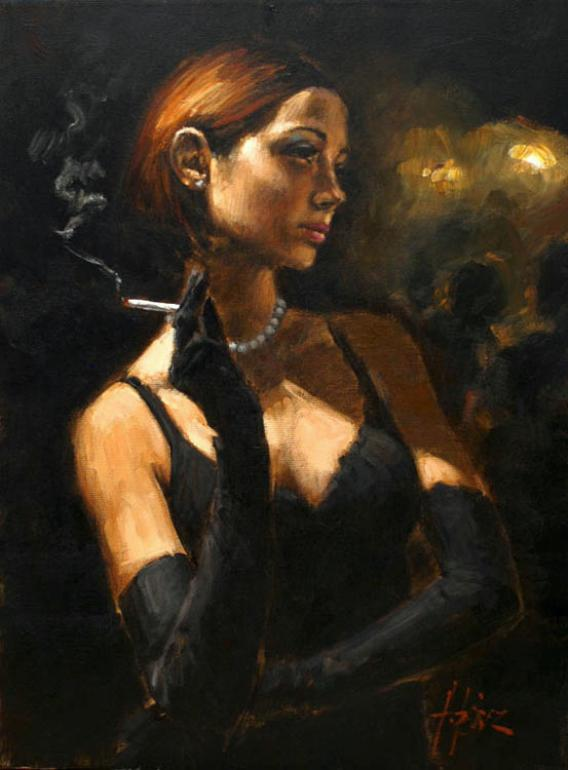 Fabian Perez - black gloves