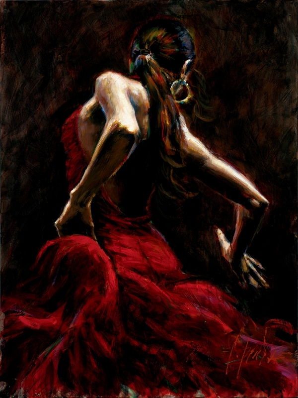 Fabian Perez - Dancer in Red