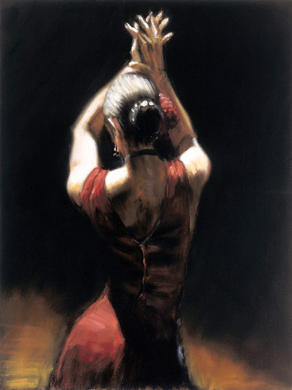 Fabian Perez - Flamenco Dancer I - print on canvas