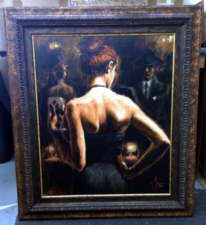 Fabian Perez - Girl With Red Hair