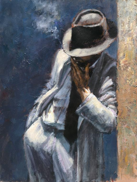 Fabian Perez - man in white suit