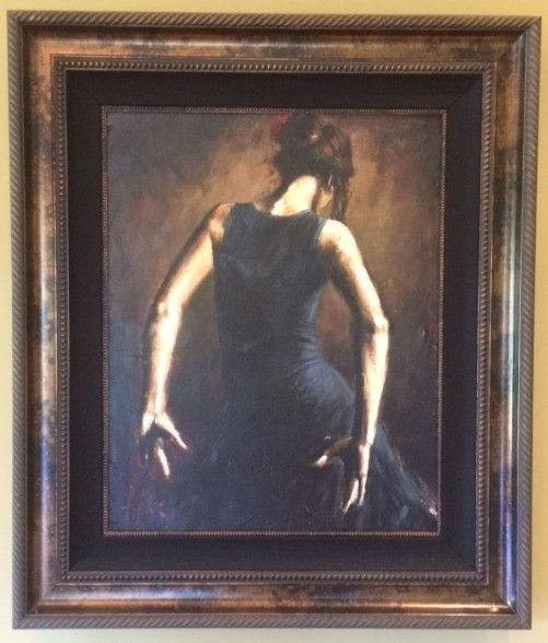 Fabian Perez - BALCONY AT BUENOS AIRES VI original painting