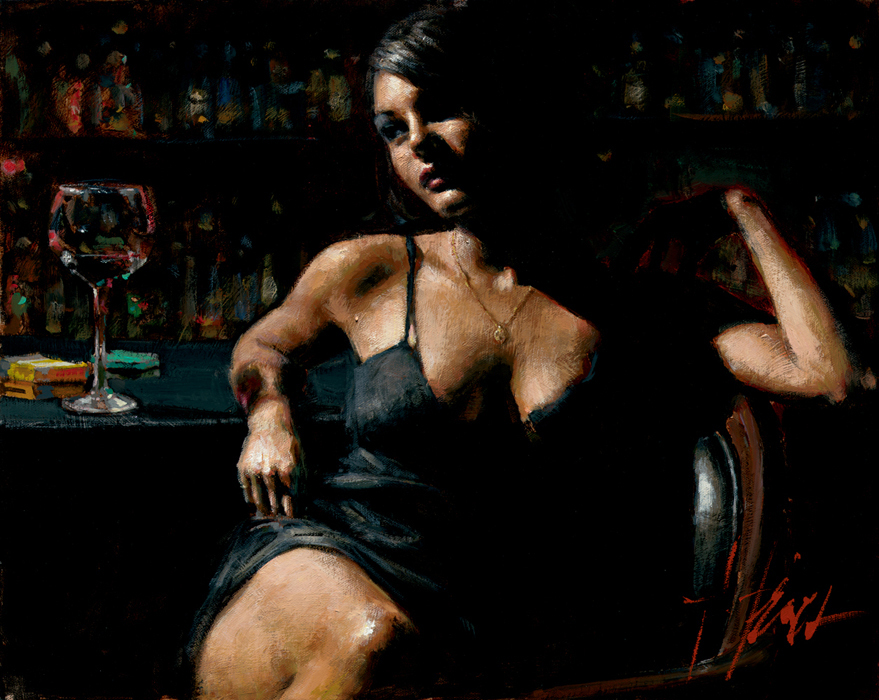 Fabian Perez - SABA AT LAS BRUJAS III - signed and numbered limited edition print on canvas